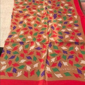 Vintage Givenchy 100% silk scarf